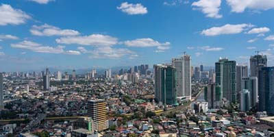 Aerial view of Manila, Philippines