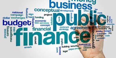 Public finance word cloud